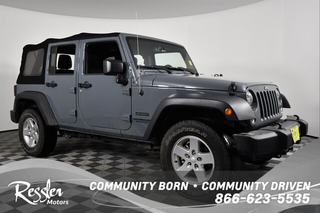 Jeep Wrangler Unlimited Sport >> Pre Owned 2015 Jeep Wrangler Unlimited Sport Suv In Bozeman T807343